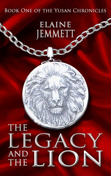 Book Cover of The Legacy and the Lion, by Elaine Jemmett